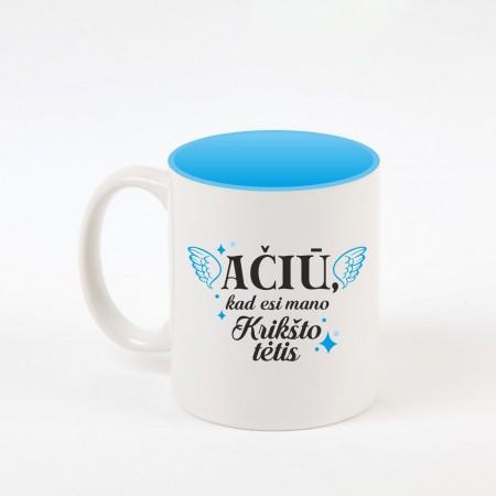 """Krikšto tėtis"" dekoruotas puodelis"