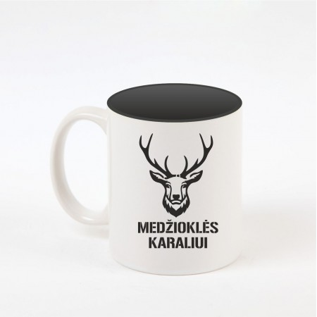 """""""Medžioklės karalius"""" dekoruotas puodelis"""