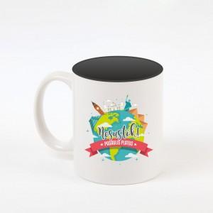 """Nesustok"" dekoruotas puodelis"