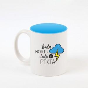 """""""Pikta"""" dekoruotas puodelis"""