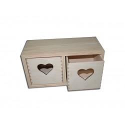 Dėžutė su širdelėmis
