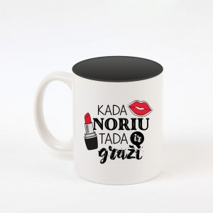 """Graži"" dekoruotas puodelis"