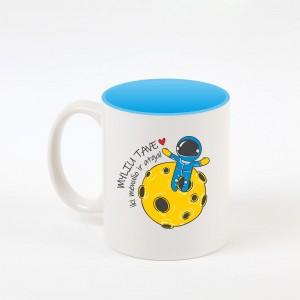 """""""Iki mėnulio"""" dekoruotas puodelis"""