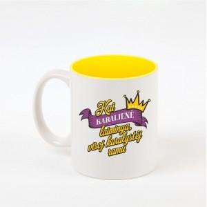 """Karalienės"" dekoruotas puodelis"