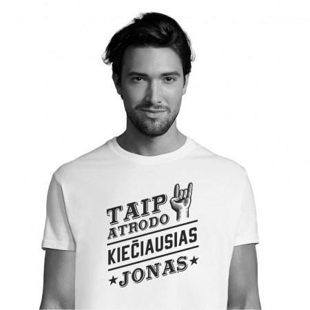 Marškinėliai KIEČIAUSIAS JONAS