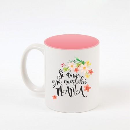 """Mama"" dekoruotas puodelis"