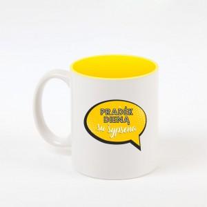 """""""Su šypsena"""" dekoruotas puodelis"""